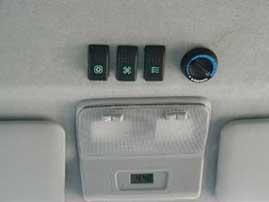 Ovládanie klimatizácie.