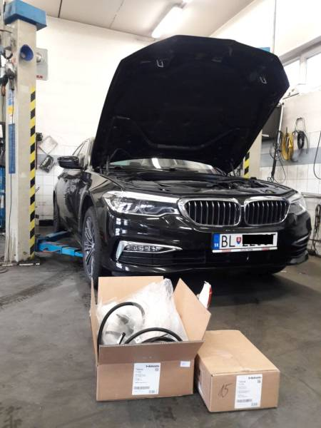 BMW 520D 2018 montáž nezávislého kúrenia ThermoTop EVO
