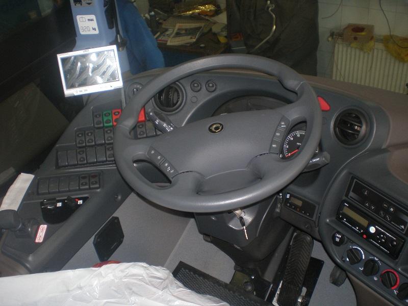 Irisbus montáž cúvacej kamery